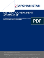 District Government Assessment
