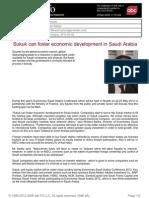 Sukuk Can Foster Economic Development in Saudi Arabia