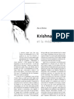 Krishnamurti et la méditation, par David Bohm