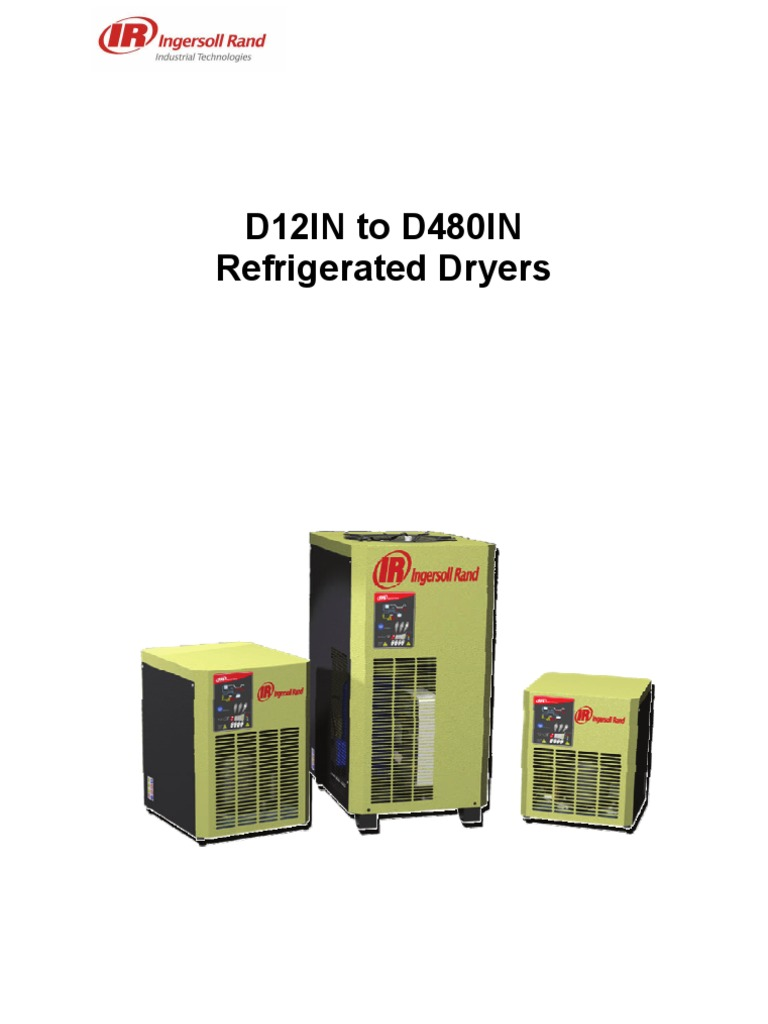 d12in to d480in refrigerated dryer service manual