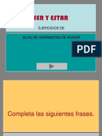 Ejercicios Ser y Estar-blog de Hispanistas de Agadir.