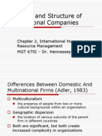 Strategy and Structure of Multinational Companies
