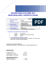 Informe Diario Onemi Magallanes 22.04.2013