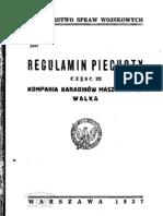 Regulamin piechoty. Cz. 3, Kompania karabinów maszynowych - 1937