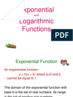 Exponential and Log