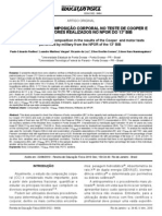 A influencia da composição corporal no teste de cooper e testes motores realizados no npor do 13º BIB