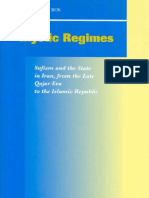 Mystic Regimes, Sufism and the State in Iran From the Late Qajar Era to the Islamic Republic (Brill, 2002)