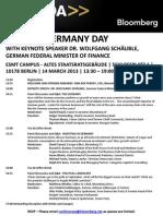 Germany Day Agenda