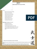 Judo Requirements