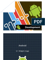 Android Intermediate Widgets