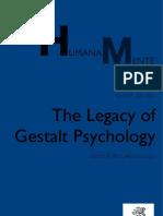 Humana_Mente 17 the Legacy of Gestalt Psychology