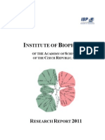 Research Report 2011 on Biophysics