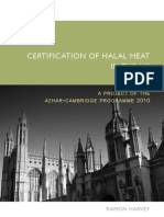 Certification of Halal Meat in the UK