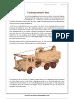 Truck Crane Model Plan