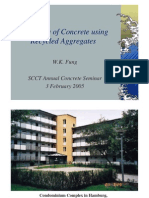 Wkfung Durability of Concrete Using Recycled Aggregates
