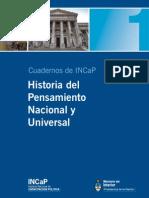 Historia Del Pensamiento Nacional y Universal