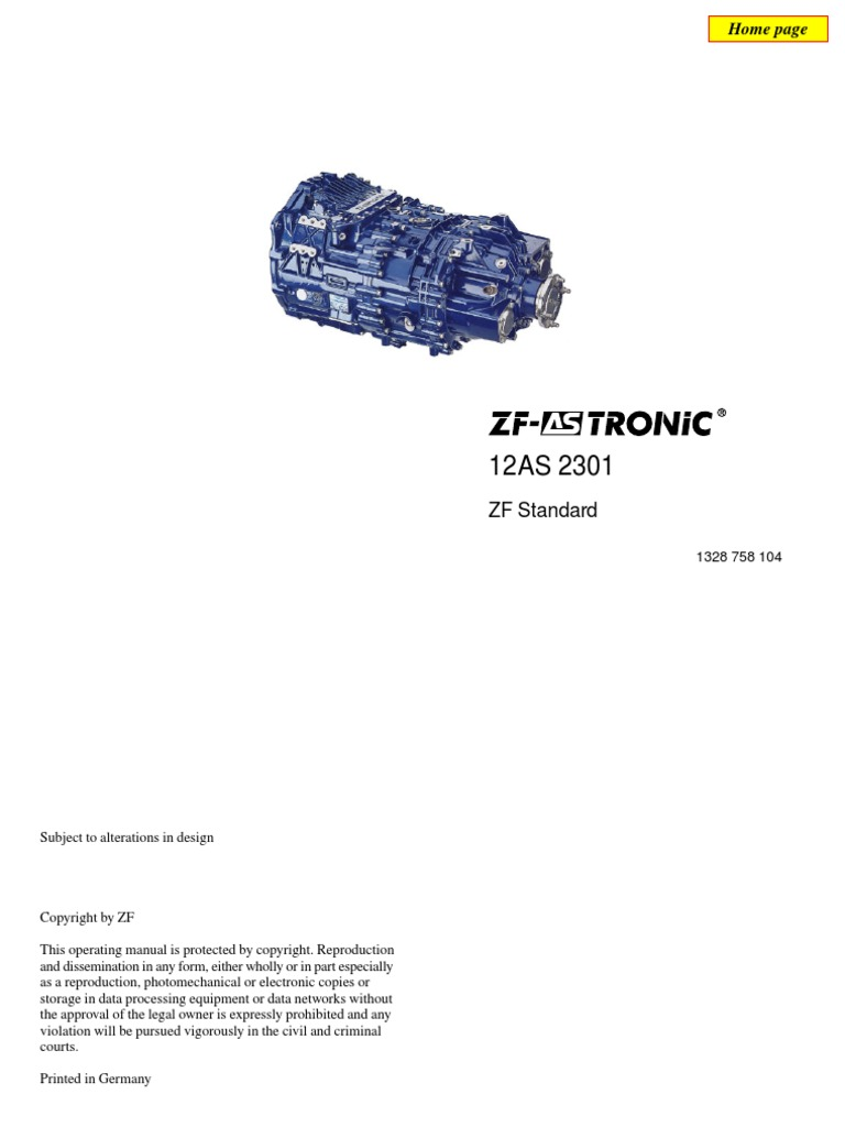 ZF as Tronic Operating Manual | Manual Transmission | Automatic Transmission