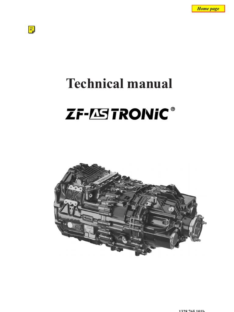 zf as tronic technicians handbook automatic transmission rh scribd com zf as tronic service manual zf as tronic transmission gearbox workshop repair manual