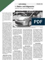 Hybrid-, Elektro- und Erdgasautos