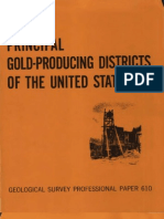 USGS PP 610 Principal Gold Producing Districts in United States