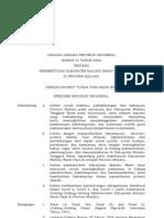 UU31_2008 Tentang Pembentukan MBD