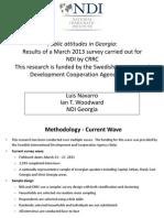 NDI-Georgia March 2013 Survey Political_ENG Vf