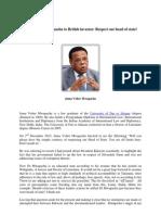 Juma Mwapachu to British investors