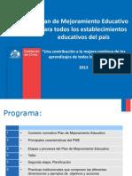 Plan de Mejoramiento Educativo 2013 Ricardo Villar