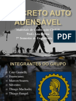 APRESENTAÇÃO - CONCRETO AUTO ADENSÁVEL
