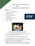 Atención de Enfermería durante el proceso de trabajo de parto y parto