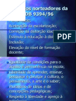 Princípios norteadores da LDB