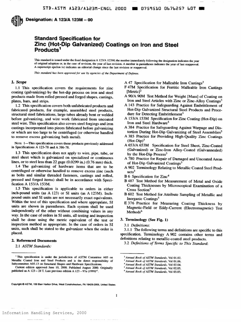 Astm a123m pdf