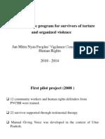 Comprehensive program for survivors of torture and organized violence