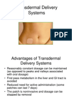 Transdermal Delivery Systems2011