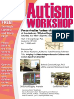 Autism Workshop - 5/18
