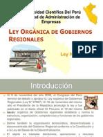 Ley Orgánica de Gobiernos Regionales del Perú2