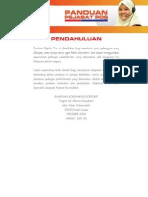 Pos Malaysia Guide