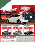 Wills Toyota April 2013
