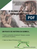 II SEMINÁRIO DE HISTÓRIA DA QUÍMICA- A QUÍMICA TÉCNICA RENASCENTISTA