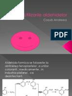 utilizarea aldehidelor