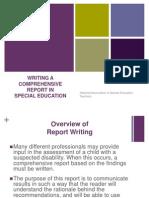 Writing a Comprehensive Report