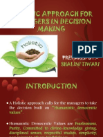 Human Resource Management Holistic Approach for Managers in Decision Making2