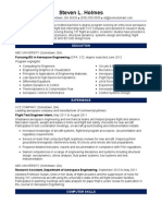 Sample Resume Aerospace Engineer Entry Level