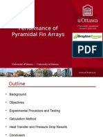 Performance of Pyramidal Fin Arrays