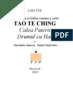 Tao Te Ching Traducere Romania