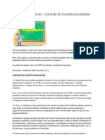 Resumão de Direito Constitucional (Controle de Constitucionalidade)