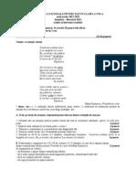 Simulare Evaluare Nationala Pentru Elevii de Clasa a 8a Februarue 2013 Limba Romana