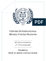 OxIMUN 2012 - How to Write a Study Guide