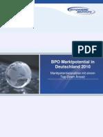 BPO Marktpotential Deutschland 201