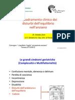 Inquadramento Clinico Dei Disturbi Dellequilibrio Nellanziano-Zurlo
